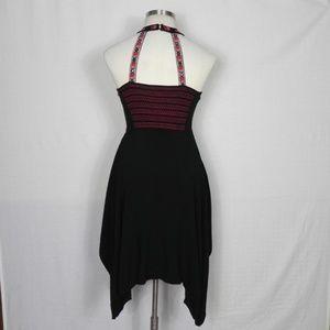 Candies   Halter Embroidered Black Dress M